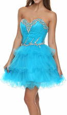 TURQUOISE SHORT SWEET 16 DANCE COCKTAIL DRESS HOMECOMING EVENING BALL GOWN S /6