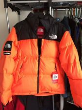 NWT and Receipt 100% Authentic Supreme The North Face Nuptse Orange Size M