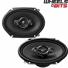 "Pioneer TS-A6834i 6"" X 8"" 3-way Custom Fit coaxial de coche audio speakers 350W"
