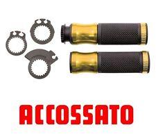 Coppia Manopole Alluminio Ergal Universali Accossato Oro Honda CBR 1000 RR