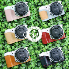 [Melten] Genuine Leather Camera Half Case For Sony Alpha A5100 A5000