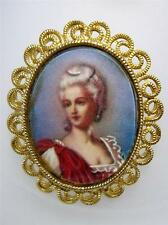 Vintage Signed KARU Arke Portrait  Pin Brooch