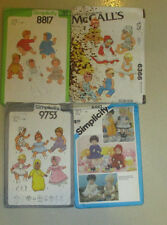 SIMPLICITY 9753-6481-8817 McCALLS 8817 BABY  DOLL CLOTHING SZ 17-18