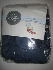 Luxe Basics Cover Me Glider Chair Cover, Navy Blue