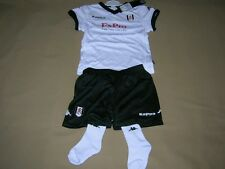 Fulham Baby Soccer Kit Kappa white Football Shirt Shorts Socks NEW