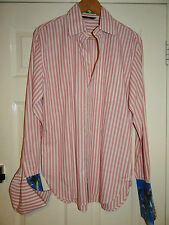 PAUL SMITH -LONDON SMART DESIGNER PINK STRIPED CASUAL/DRESS SHIRT M