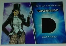 DC JLA Justice League totally fabricated costume card Zantana black swatch rare
