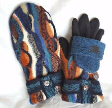 Coogi Glittens!! Recycled Wool Sweater, Possum fur, gloves convertible mittens