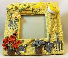 """3-D Gardening Picture Frame Great Gift For Garden Lover 6x6 Frame 3x3"""" Pic Size"""