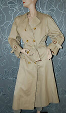 100% Authentic BURBERRY Womens Trenchcoat with Nova Check Wool Lining size 10