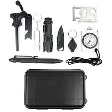 Professional 10 in 1 Survival Kit Outdoor Travel Hike Field Camp Emergency Kits.