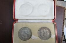 VERY RARE SOUTHERN RHODESIA ' Rhodes ' 1953 CROWN Two Coin Cased PROOF SET