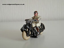 Dinky Toys Pre-War 37a CIVILIAN MOTOR CYCLIST 1937 ( Rare White Colourway )
