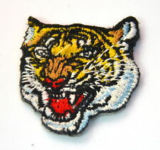 4cm ROARING TIGER HEAD  EMBROIDERED APPLIQUE BADGE  PATCH SEW IRON ON