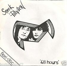 "SNEEK PREVIEW 48 Hours 7"" flexi UK 1985 PRIVATE PRESS Punk KBD Indie LISTEN!!!"
