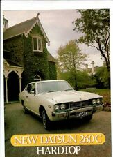 1976 DATSUN 260C HARDTOP Australian 2 Page Sheet Brochure NISSAN