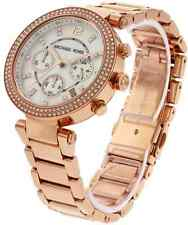 Original Michael Kors MK5491 Parker Chronograph Rose Gold-tone Ladies Watch