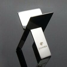 Cohiba Stainless Steel Foldable Cigar Stand Ashtray Holder w/Pu Leather Pouch