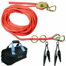 Falltech Fall Protection 2-Person 50' Temporary Horizontal Lifeline Kit
