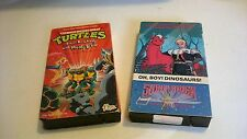 Saber Rider and the Star Sheriffs Teenage Mutant Ninja Turtles VHS 2 Tape Lot