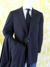 OXXFORD CLOTHES black pinstripe 100% wool customized suit 37x31 42L