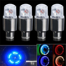 4pcs Multi Colour LED Neon Car Bike Wheel Tire Tyre Valve Dust Cap Spoke Light