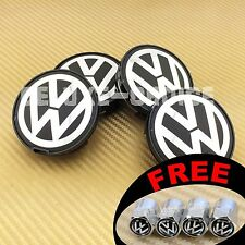 SET OF 4 CAR ALLOY WHEEL RIM CENTER LOGO CAP HUB 63mm VW VOLKSWAGEN US SELLER