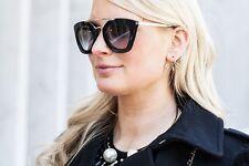 "Womens ""Cinema"" Sunglasses BLACK cateye celebrity designer soho boho pr09qs"