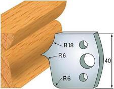2 Profilmesser 40 x 4 mm + 2 Abweiser 38 x 4 mm von Flury-Systems Nr. 46