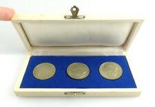 3 Medaillen im Etui: MfS silberfarben Dr. Sorge, Schulze, Iwanowitsch Abel e1469