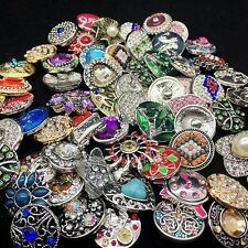 Charm Snap Button 10PCS 18MM Rhinestone Ginger snap button Jewelry Mixed Style