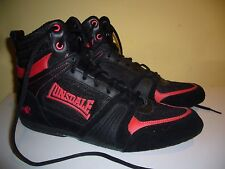Lonsdale M-Core Leather / textile lace up boxing boots 7 UK 41 EU 8 US used once