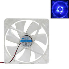 140mm LED Light CPU Cooling Fan Computer PC Clear Case Quad Heatsink 7-Blade NEW