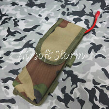 Airsoft Paintball AEG External Large Battery Pouch Bag Pack Woodland Camo