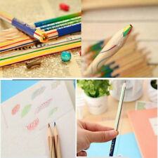 10pcs/Lot Rainbow Color Pencil 4 in 1 Colored Drawing Painting Pencils For Kids