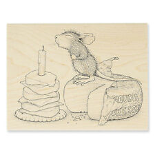 HOUSE MOUSE RUBBER STAMPS GOUDA WISH NEW WOOD STAMP