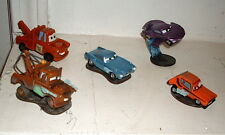 "Mixed Collection of 5 Loose Vehicles from Pixar Movie ""Cars"" Lot of 5 on Base"