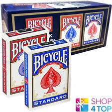 BICYCLE RIDER BLUE & RED DOUBLE BACK 12 DECKS NO FACE MAGIC TRICKS PLAYING CARDS