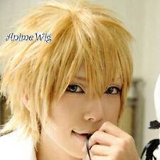 Kaichou wa Maid-sama Usui Takumi Cosplay Anime Short Dark Blonde Hair Full Wig