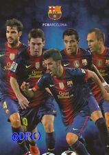 Fc barcelona la + Stars 2012/2013 + FCB + tarjeta postal coleccionista + nuevo + licencia +