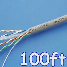 100ft eLINK OFC Real GigaSpeed Cat6 Cat.6 UTP LAN Installation Cable Solid 23AWG