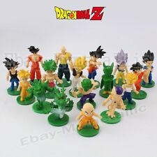 17pcs DragonBall Goku Krillin Broly Piccolo Frieza Porunga 3-5cm PVC Figure