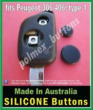 fits Peugeot 406 key FOB remote - 1 set of BUTTONS for switches with worn tips