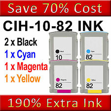 5NON-OEM Ink Cartridge Replace for Designjet 500 500 Plus 500ps 500ps Plus 10 82