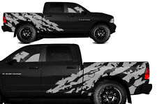 Vinyl Decal SHRED Wrap Kit for Dodge Ram Truck 1500/2500 09-14 SHORTBOX - Silver