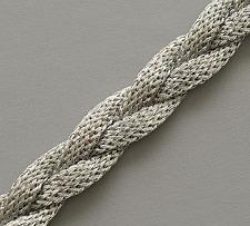 Celtic Silver Renaissance Faire Trim. Thick Metallic Braid. 3 Yards. Ribbon