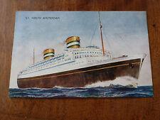 Lot90f SS NIEUW AMSTERDAM Salmon 5C24 Postcard