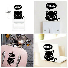 2Pcs Sticker Chat Autocollant Interrupteur Switch Prise Murale Décor Maison Mode
