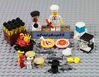 LEGO - 35 pcs Lot Food Kitchen Chef T-Bone Pizza Grill Hamburger BBQ Minifigure