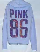 Victoria's Secret Pink 86 Limited Edition 2013 Bling Sequin Fur Lined Hoodie L